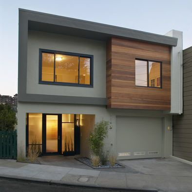 Grey Exterior Black Windows Cedar Accents Window Frames Design Pictures Remodel Decor And Ideas Page 22