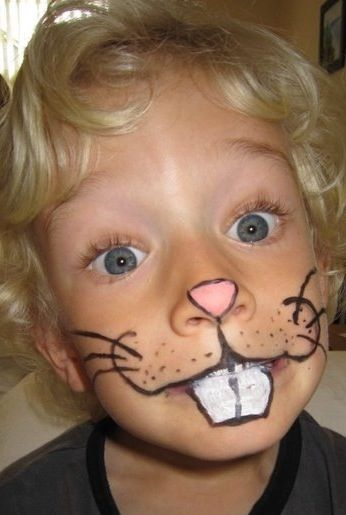 DIY rabbit face paint face painting Pinterest Rabbit Face