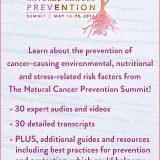 Prevent cancer-causing risk factors! Natural #Cancer Prevention Summit-33 expert talks: http://ift.tt/1TB2d0b #fb