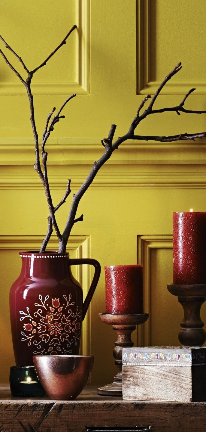 yellow custard chartreuse color painted wall interior http://www ...