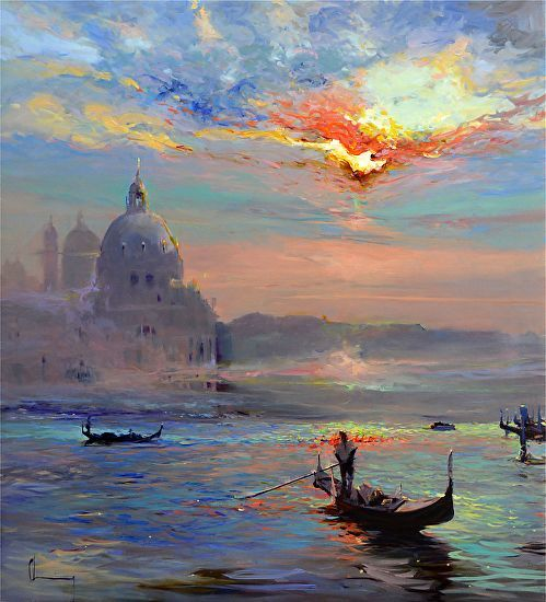 Photo of Chuck Larivey – Venice Another Time – Oil Painting – May 2017 | Grease brush ….