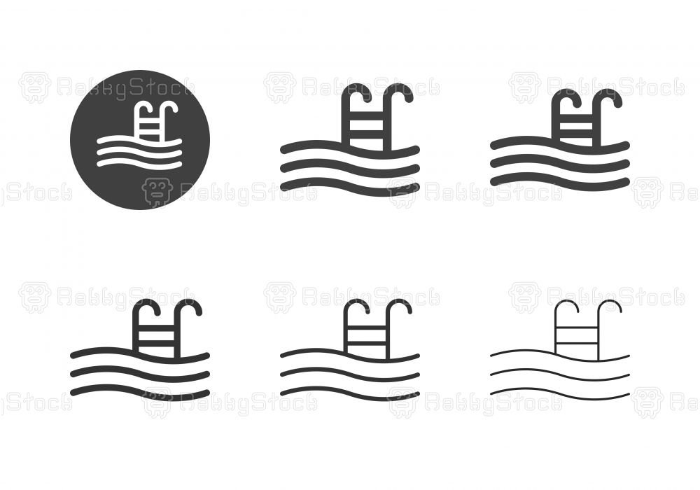 swimming pool icons multi series vector eps file.   swimming pools, swiming  pool, swimming  pinterest