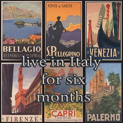 live in Italy for six months