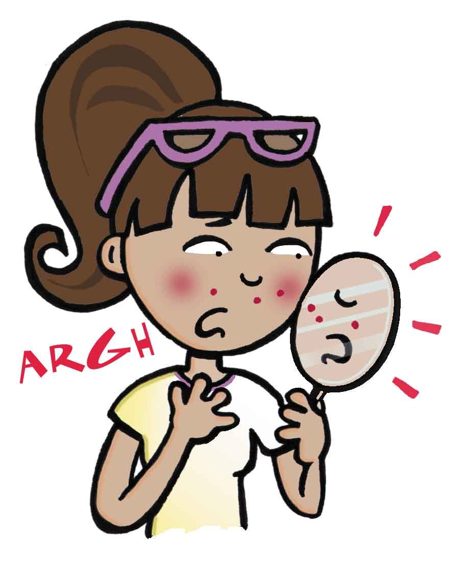 Image result for cute acne cartoon