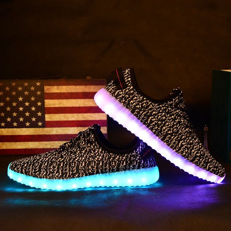 Md Men Amp Women Light Up Shoes Fashion Yeezy Boost Yeezy S