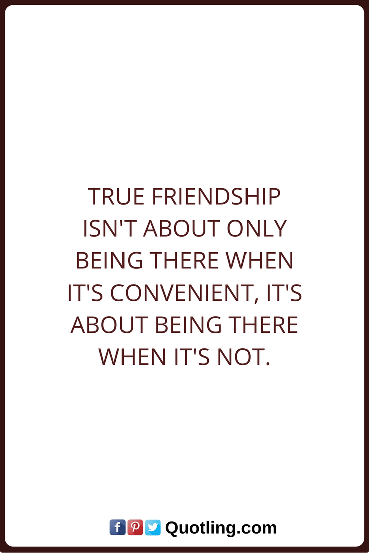 Quotes About Friendships Friendship Quotes True Friendship Isn't About Only Being There