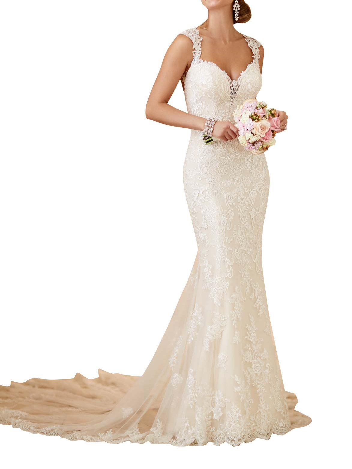 Wedding dress patterns free  Mella White Romantic Sweetheart Fit and Flare Wedding Gown with Sexy