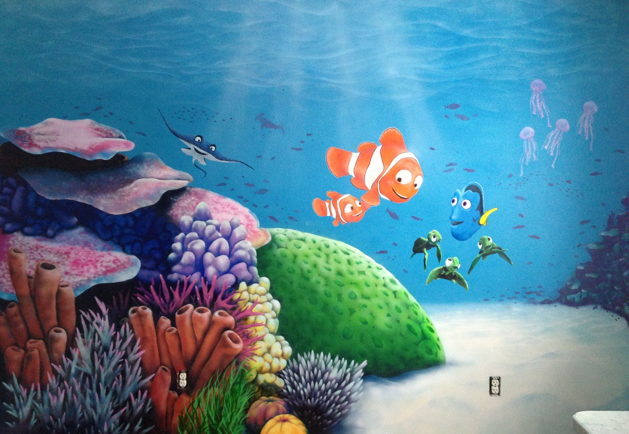Jackson S Fish Mural Pic 1 Airbrush Spray Paint Marc