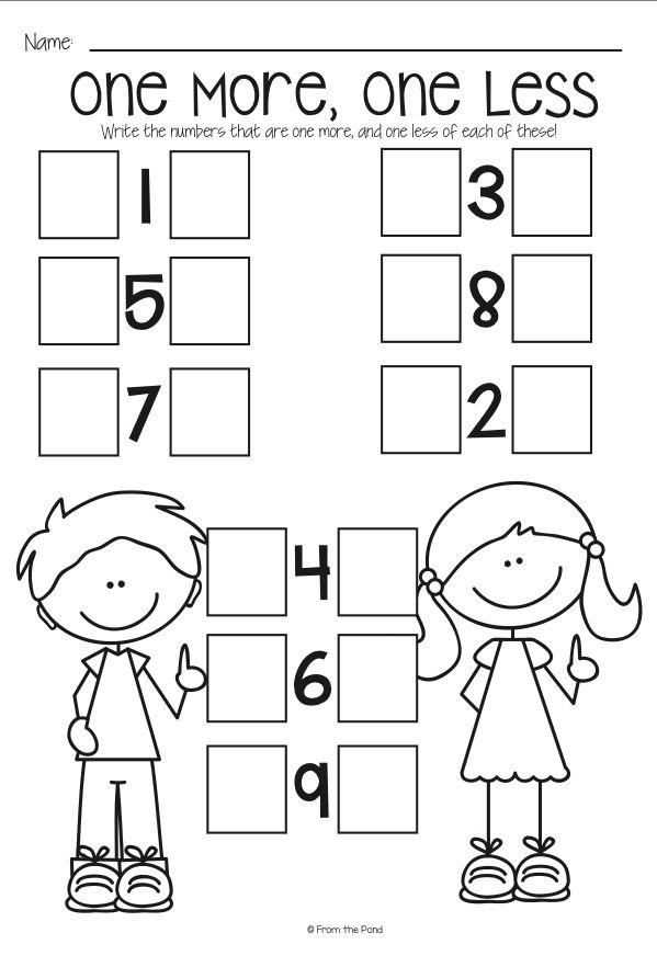 One more, one less   Math classroom, Preschool math, Math ...