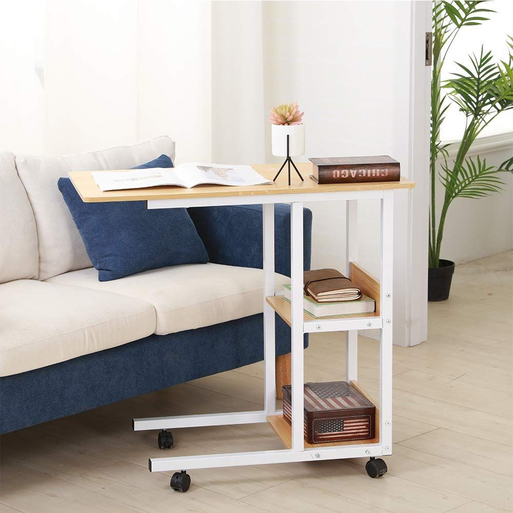 Amazon Com Shuhome Mobile Snack Table 31 5 Sofa Side Table For
