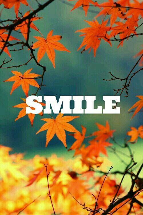 fond d 39 cran d 39 automne avec crit smile au milieu automne fond decran smile feuille. Black Bedroom Furniture Sets. Home Design Ideas