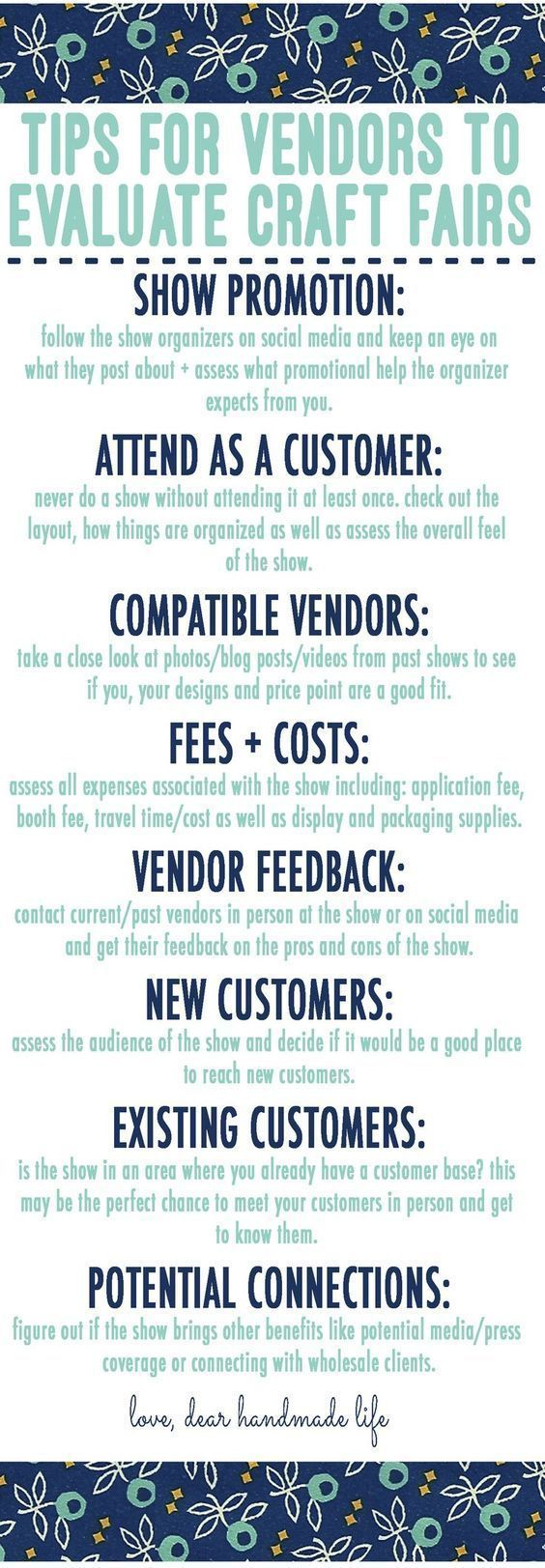 Tips For Vendors To Evaluate Craft Fairs #craftfairs