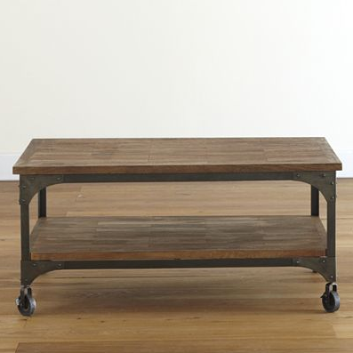 Wood And Metal Aiden Coffee Table Coffee Table Chic Coffee