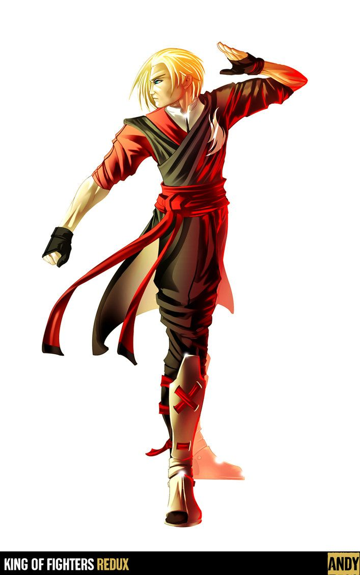 King Of Fighters Redux Andy By Digitalninja On Deviantart King
