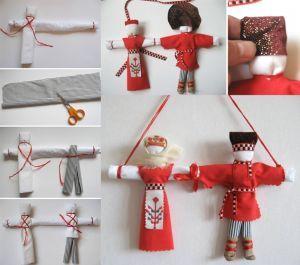 Как сделать кукол оберегов из ниток 544