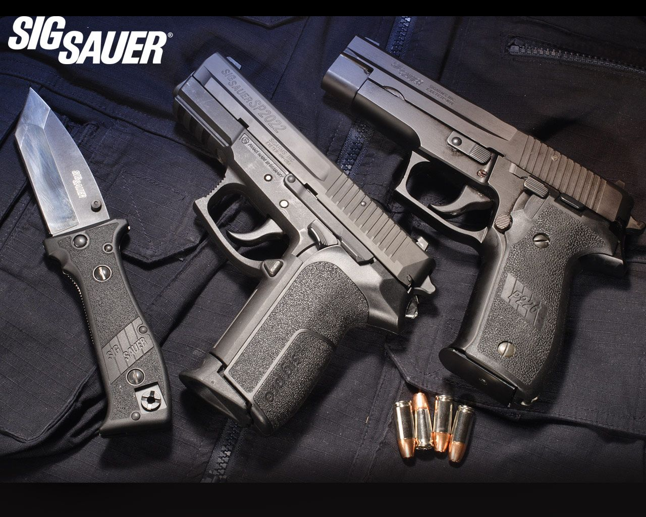 Wallpaper Pistols Sig Sauer P226 Army: Sig Sauer Knife, Sp2022, And P226