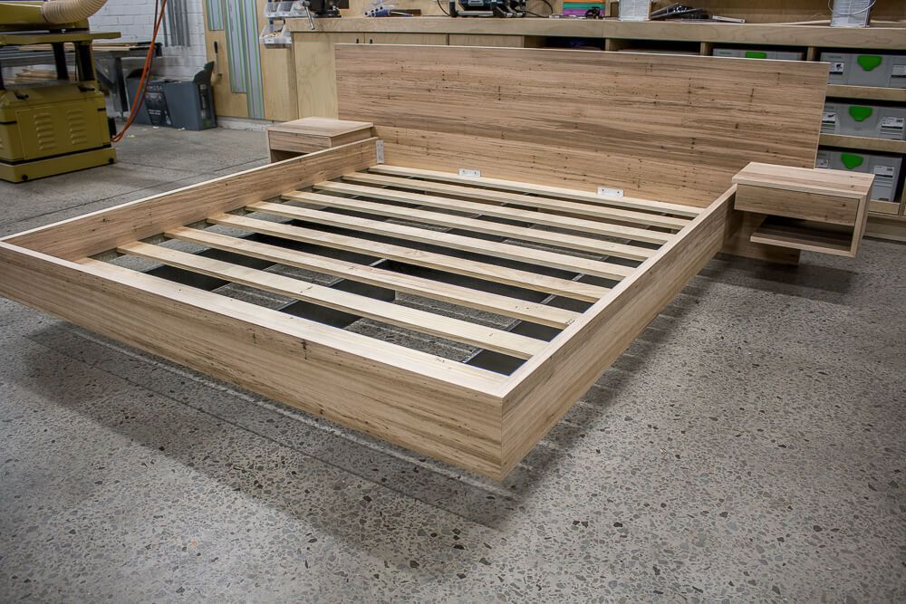 Blackbutt Floating Bed Custom Made Furniture (With images