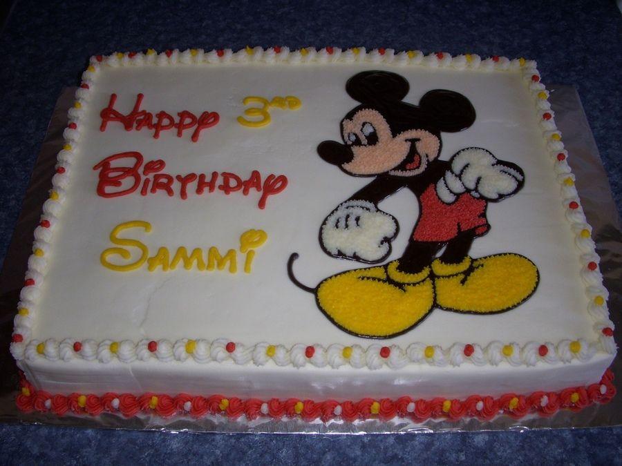 Mickey Mouse Mickey Birthday Cakes Mickey Mouse Birthday Cake