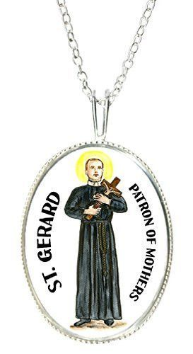 St gerard patron of motherhood 925 sterling silver 1 pendant 20 st gerard patron of motherhood 925 sterling silver 1 pendant 20 chain necklace aloadofball Image collections