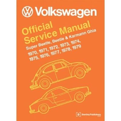 Bentley Manual Vw Official Service Manual 1970 79 Beetle And Super Beetle Type 1 Aircooled Net Vw Parts Karmann Ghia Volkswagen Beetle