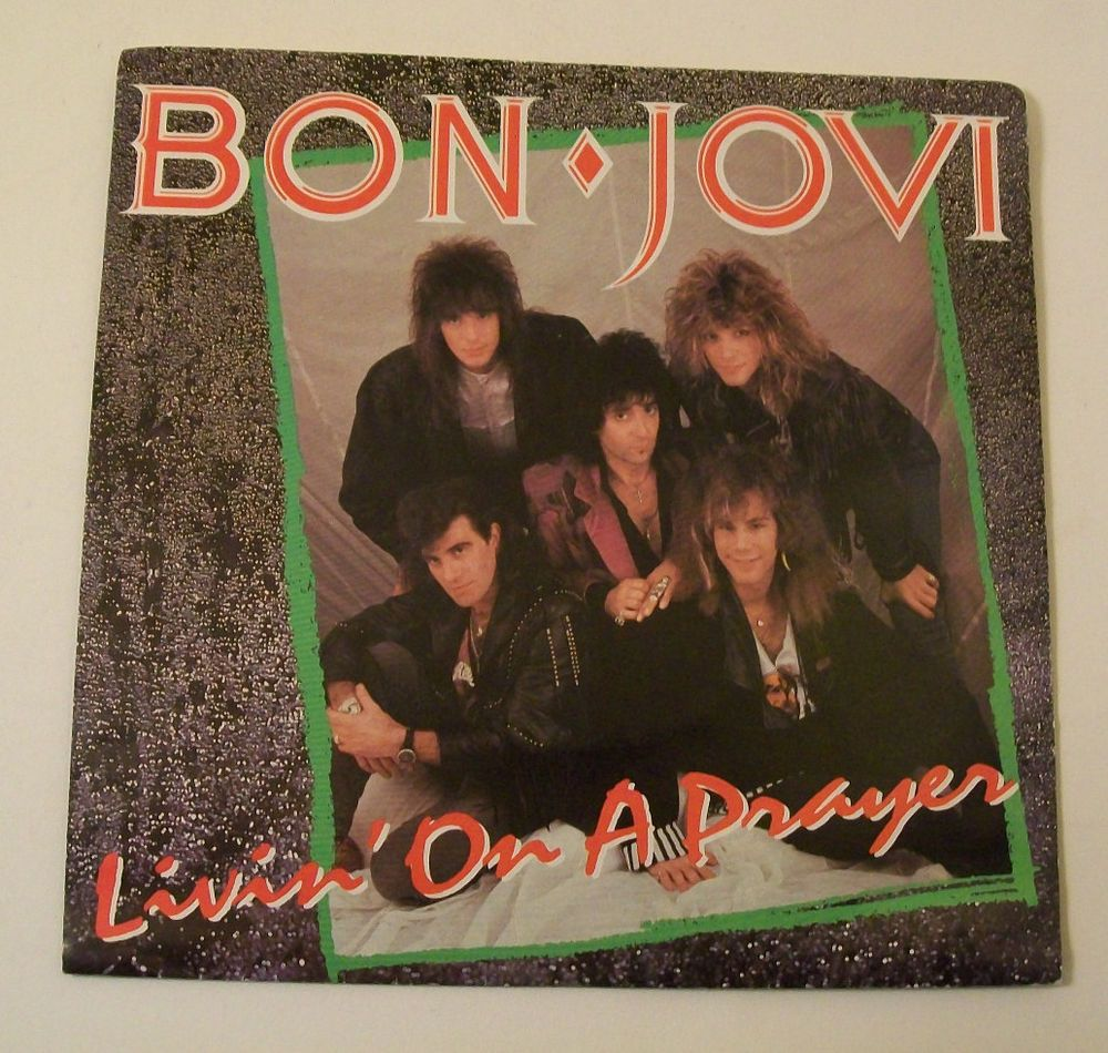 Bon Jovi Livin On A Prayer Wild In The Streets 45 Rpm Vinyl Record Polygram Hardrock Pop Songs Bon Jovi Bon Jovi Album