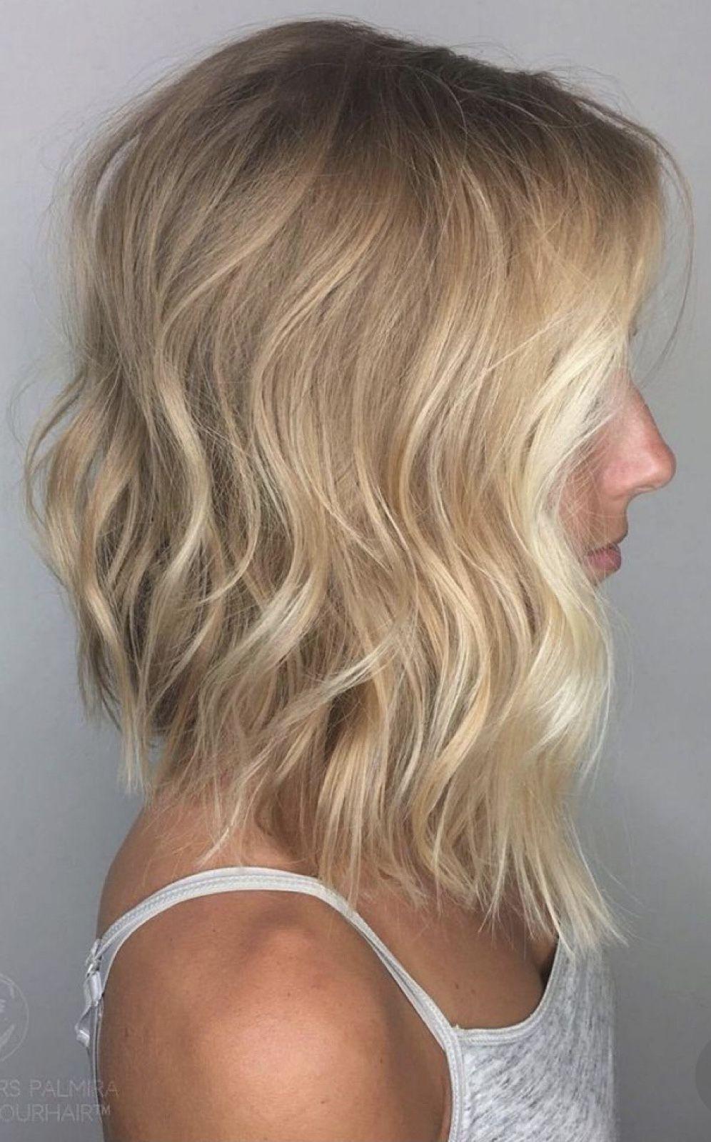 Concave Lob Long Bob Hairstyles Wavy Hairstyles Medium Medium Length Hair Styles
