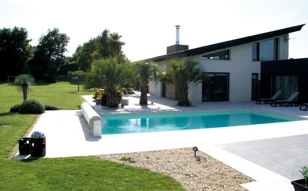 piscine depuis la terrasse sud piscine Pinterest Pool houses - photo d amenagement piscine