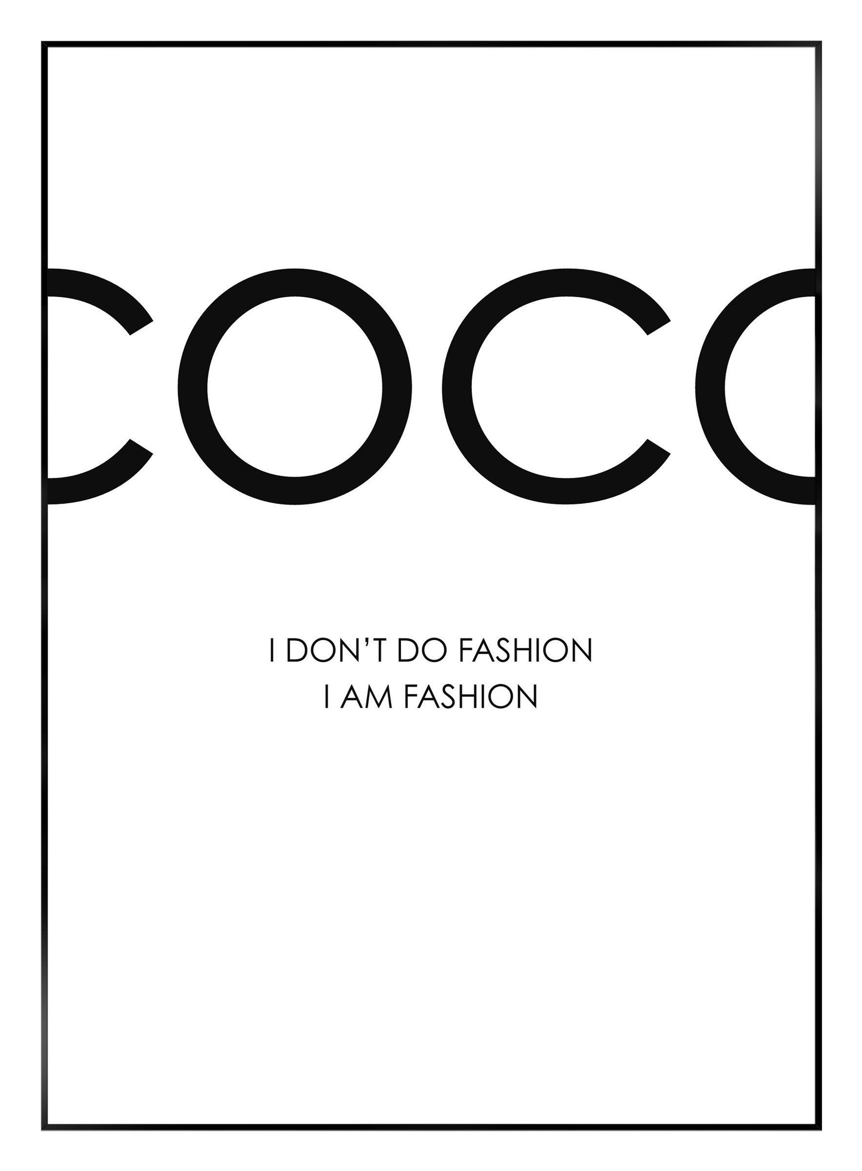 Bild I Am Bh 50x70 Cm Tumblr Bilder Schwarz Weiß Mode Wandkunst Weiße ästhetik