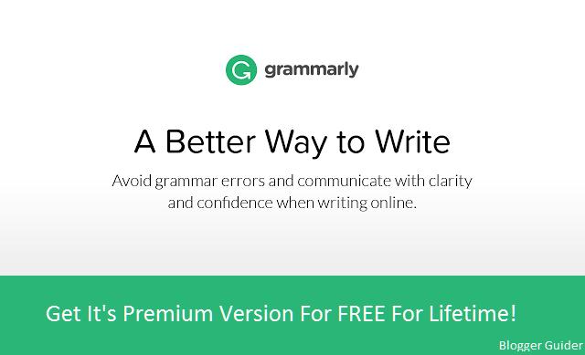 Premium grammarly account free