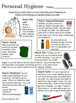 Personal Hygiene Worksheet Life Skills Lessons Teaching Life Skills Personal Hygiene Worksheets