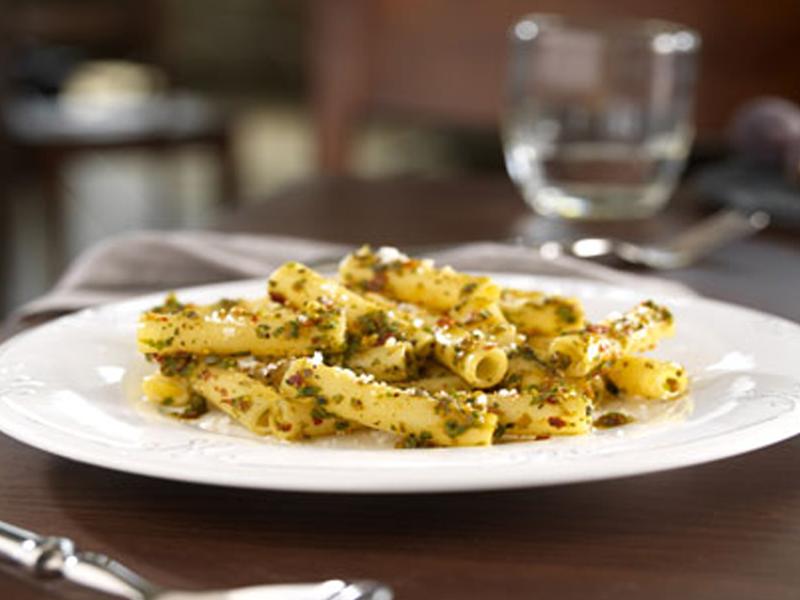 Barilla Ziti with Spicy Pesto and Pecorino Cheese