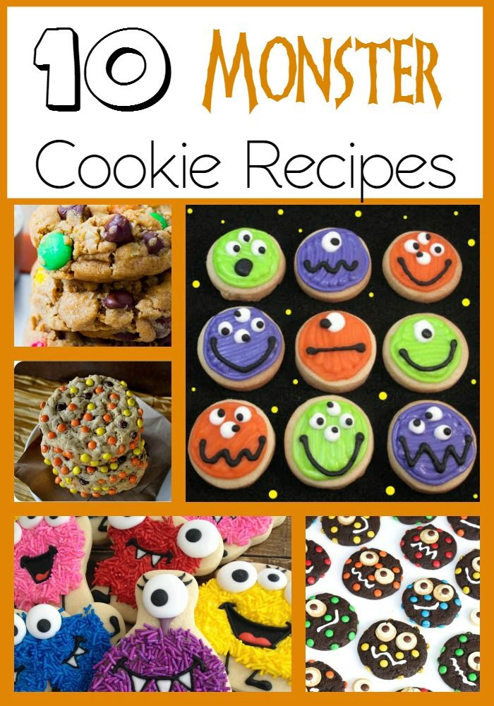 Fun Things to Bake with Kids - Halloween Monster Cookies   Fun Halloween Monster Cookies