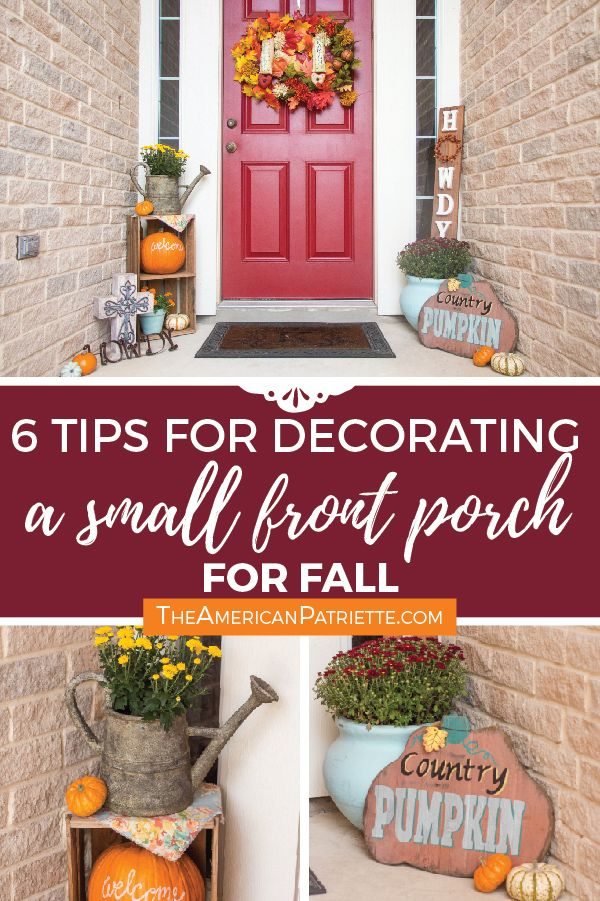 Ideas For Decorating A Small Front Porch For Fall Small Front Porches Small Front Porches Decorating Ideas Fall Front Porch Decor