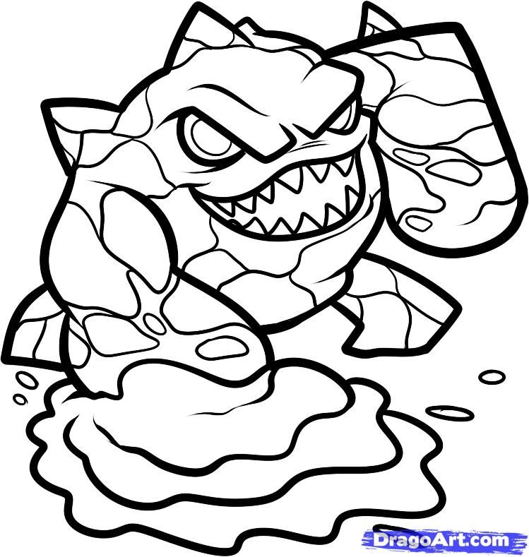 Skylanders+Coloring+Pages | how to draw eruptor, skylanders step 6
