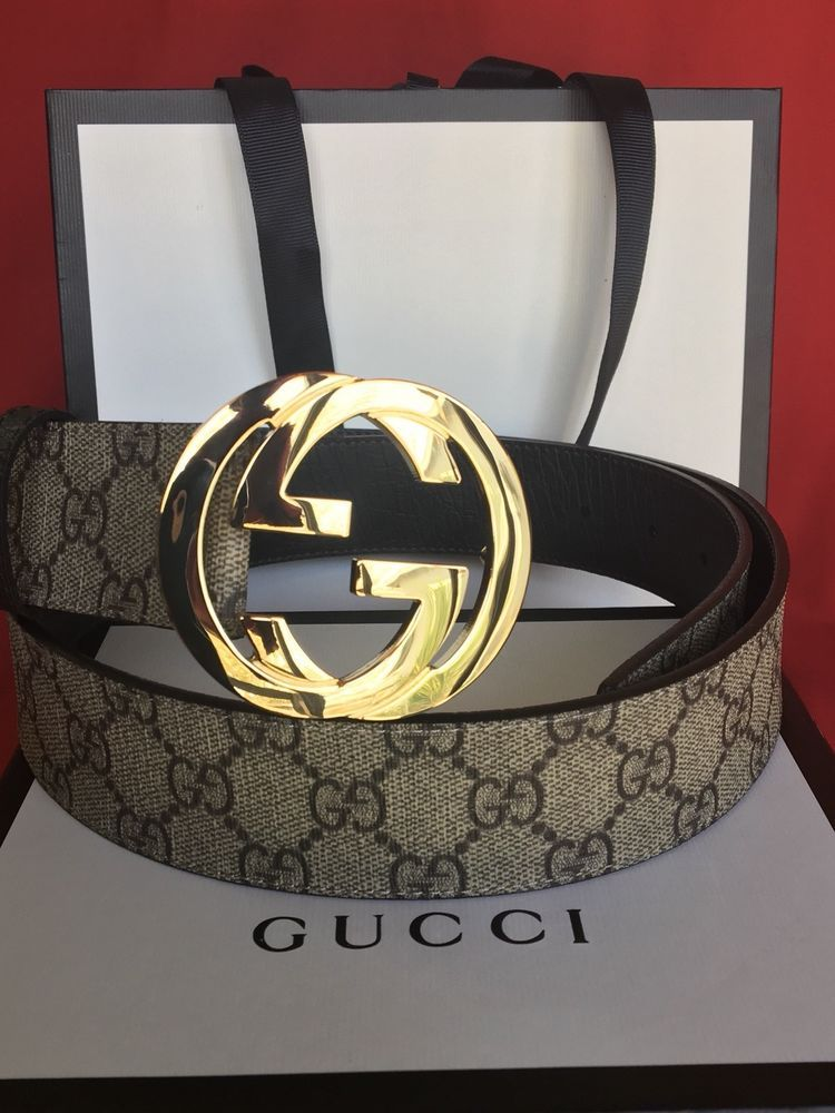 49cb2e900 NEW GUCCI BELT GOLD BUCKLE MEN SIZE 35-39 COMES WITH BOX AND BAG #fashion  #clothing #shoes #accessories #mensaccessories #belts #ad (ebay link)