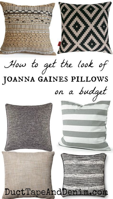 How to Get the Look of Joanna Gaines Pillows on a Budget images