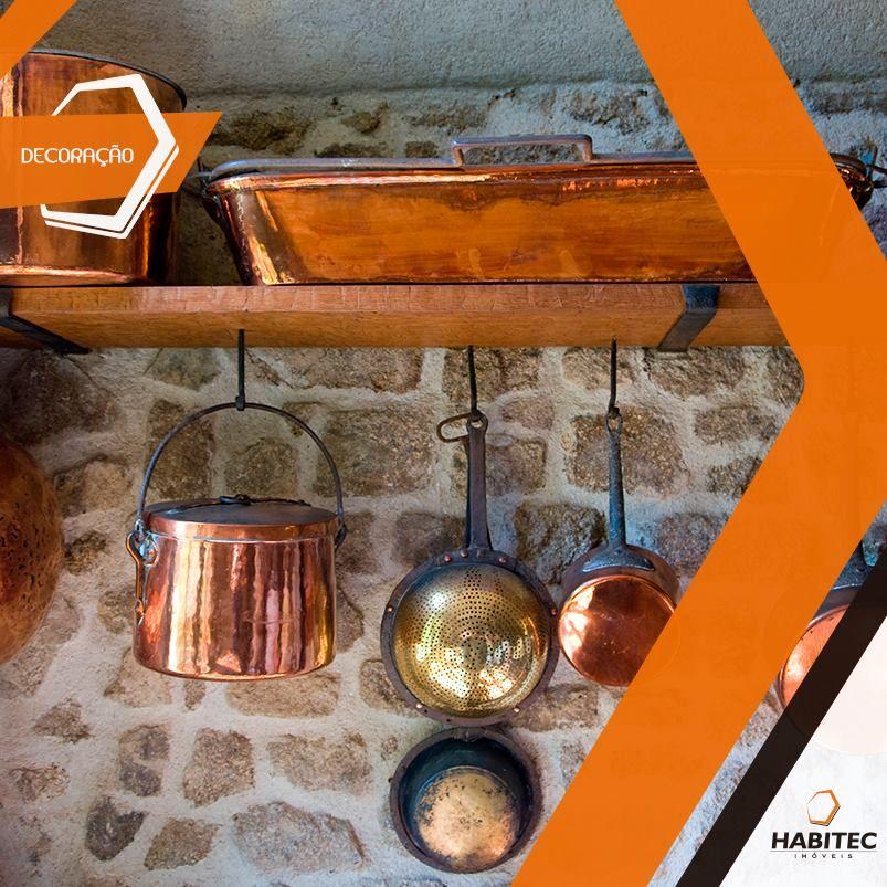 Metais cobreados invadem as cozinhas em 2015. Aposte nos detalhes, como panelas e conchas de cobre. #Decoração