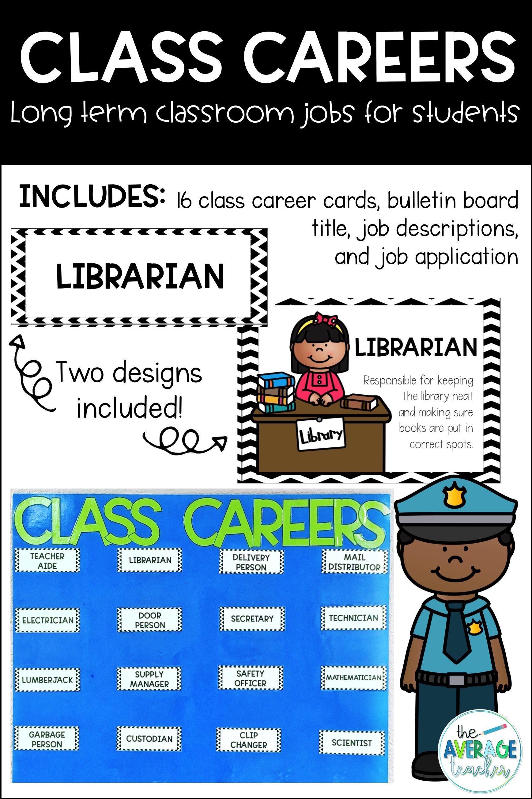 Classroom jobs class careers bulletin board and job