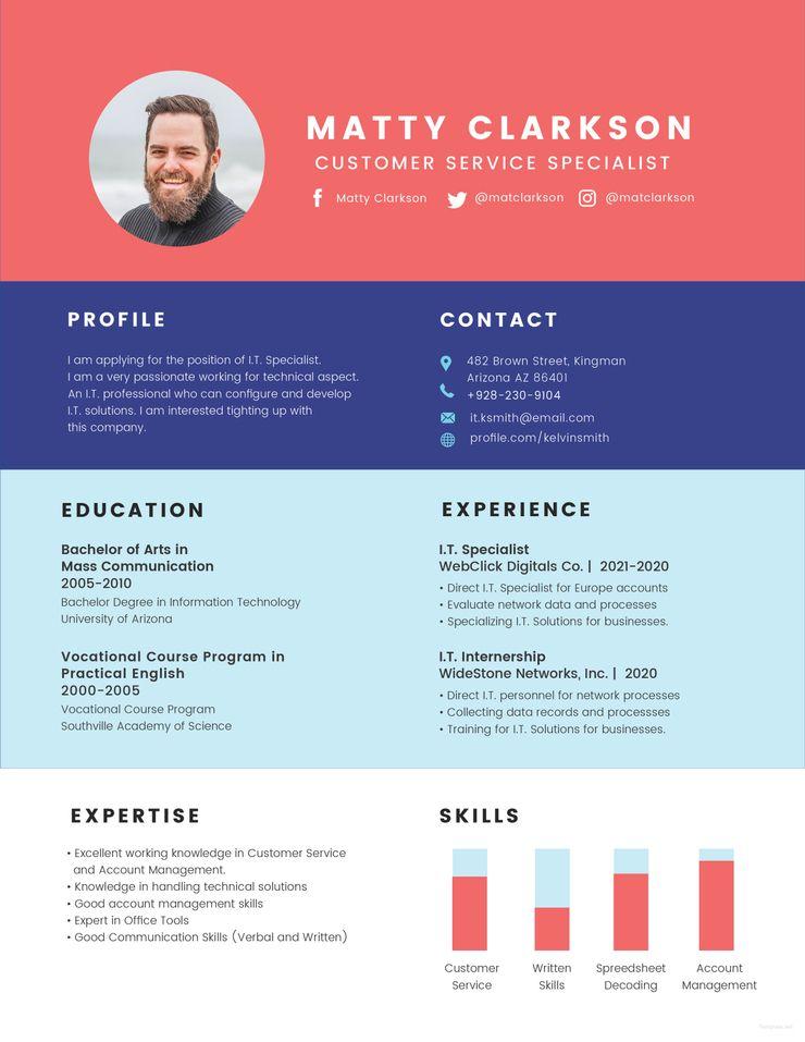 Free BPO Experience Resume Resume, Resume template