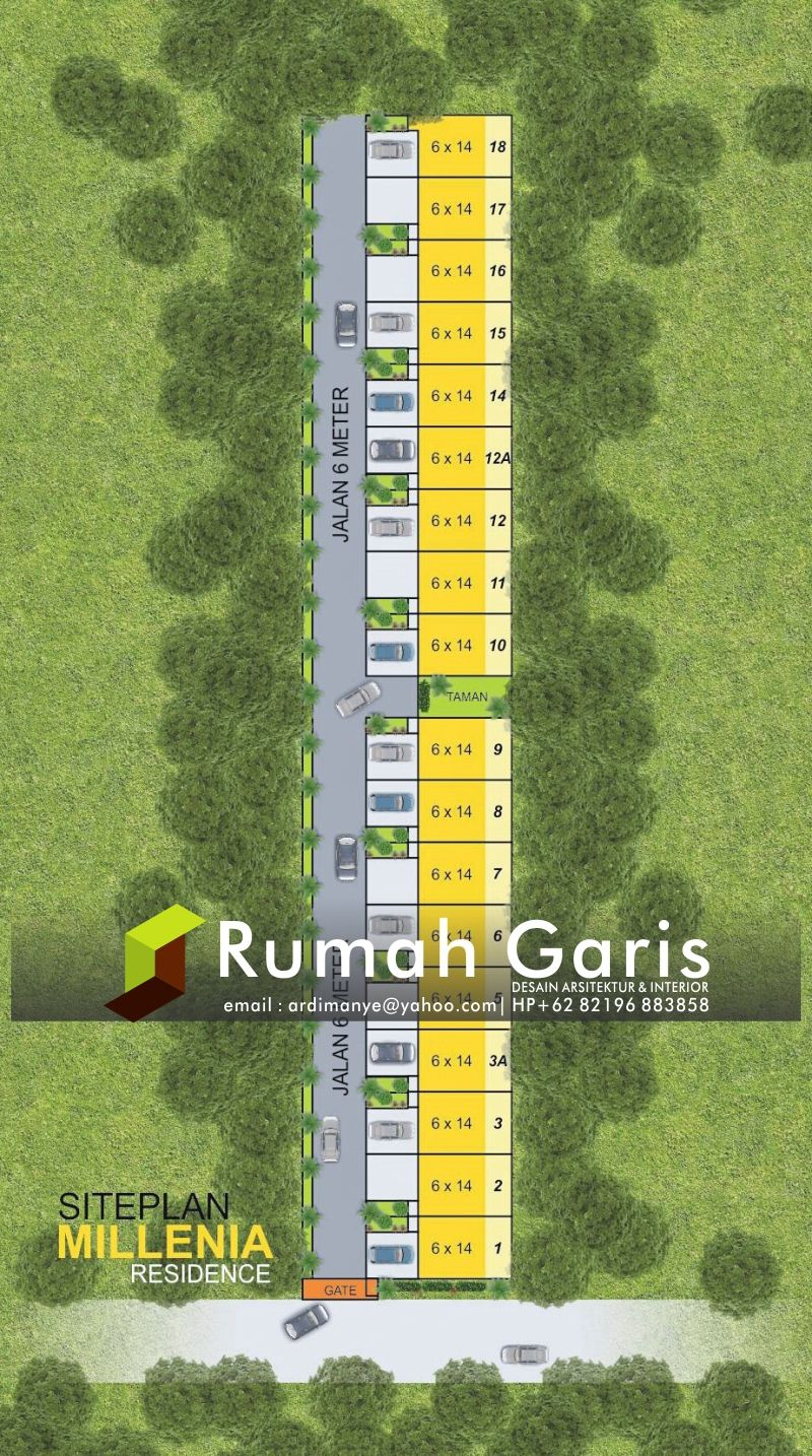 Jasa Pembuatan Gambar Siteplan Warna Kompleks Perumahan Residence Arsitek Desain Rumah Garis Kon Row House Design Duplex House Design Architecture Presentation