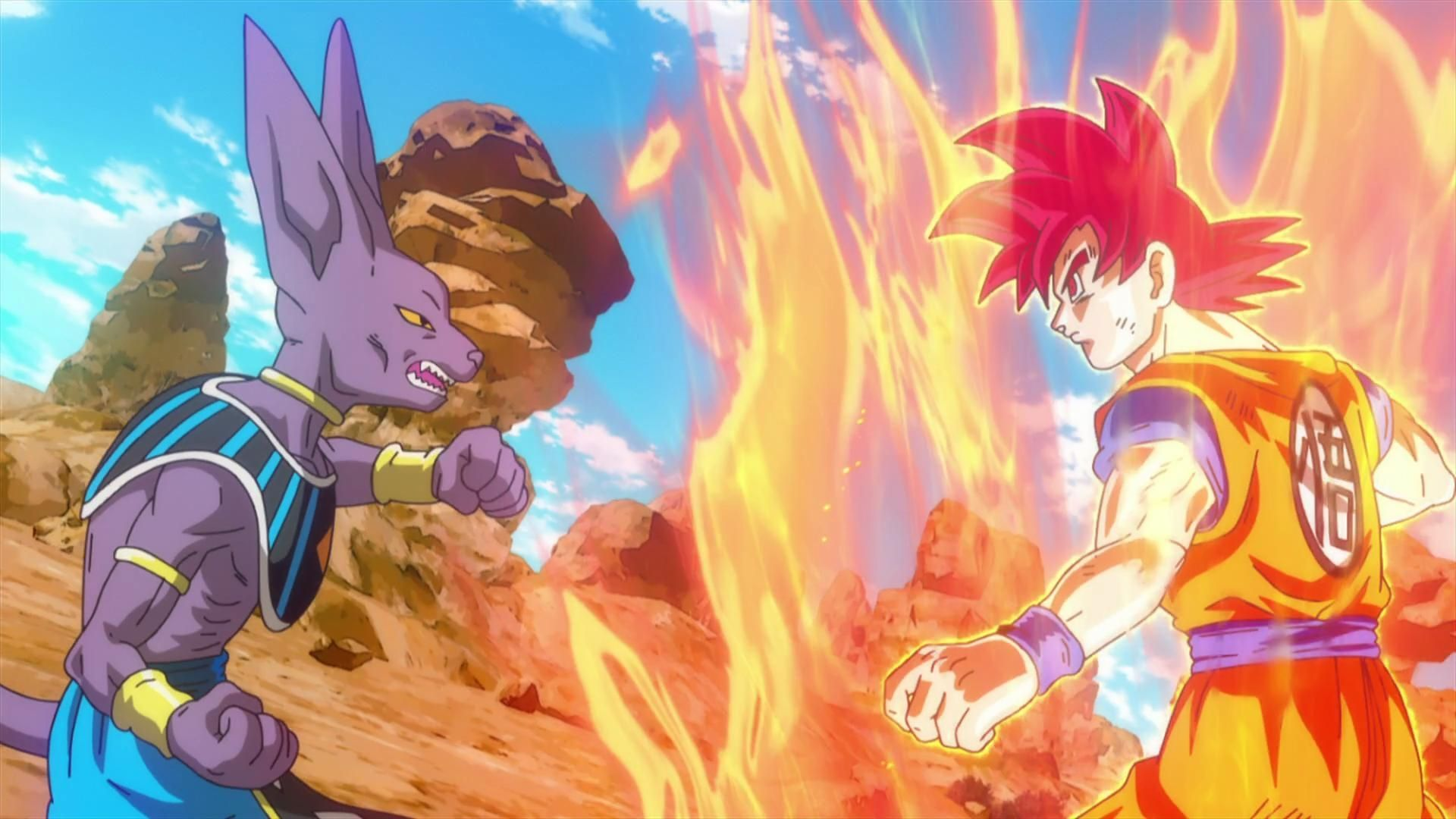 Dragon Ball Z Battle of Gods Bills vs Son Goku Super ...