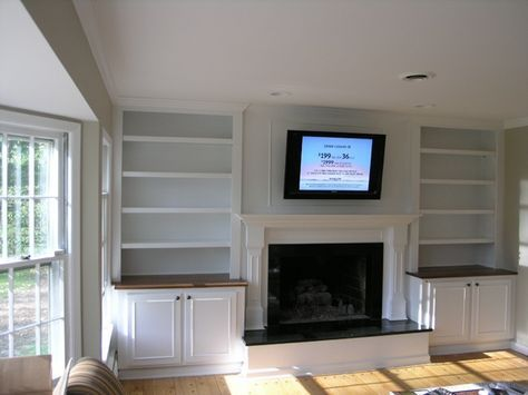 Built In Shelves Around Fireplace Bookshelves For The Home