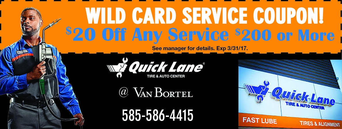 Wild Card Savings At Van Bortel Ford At Quicklane Rochester Ny Valpak Coupon Wild Card Tire Alignment Coupons