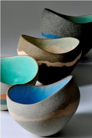 kerry hastings ceramics love the simplicity earthy vs. vibrant #ceramicart