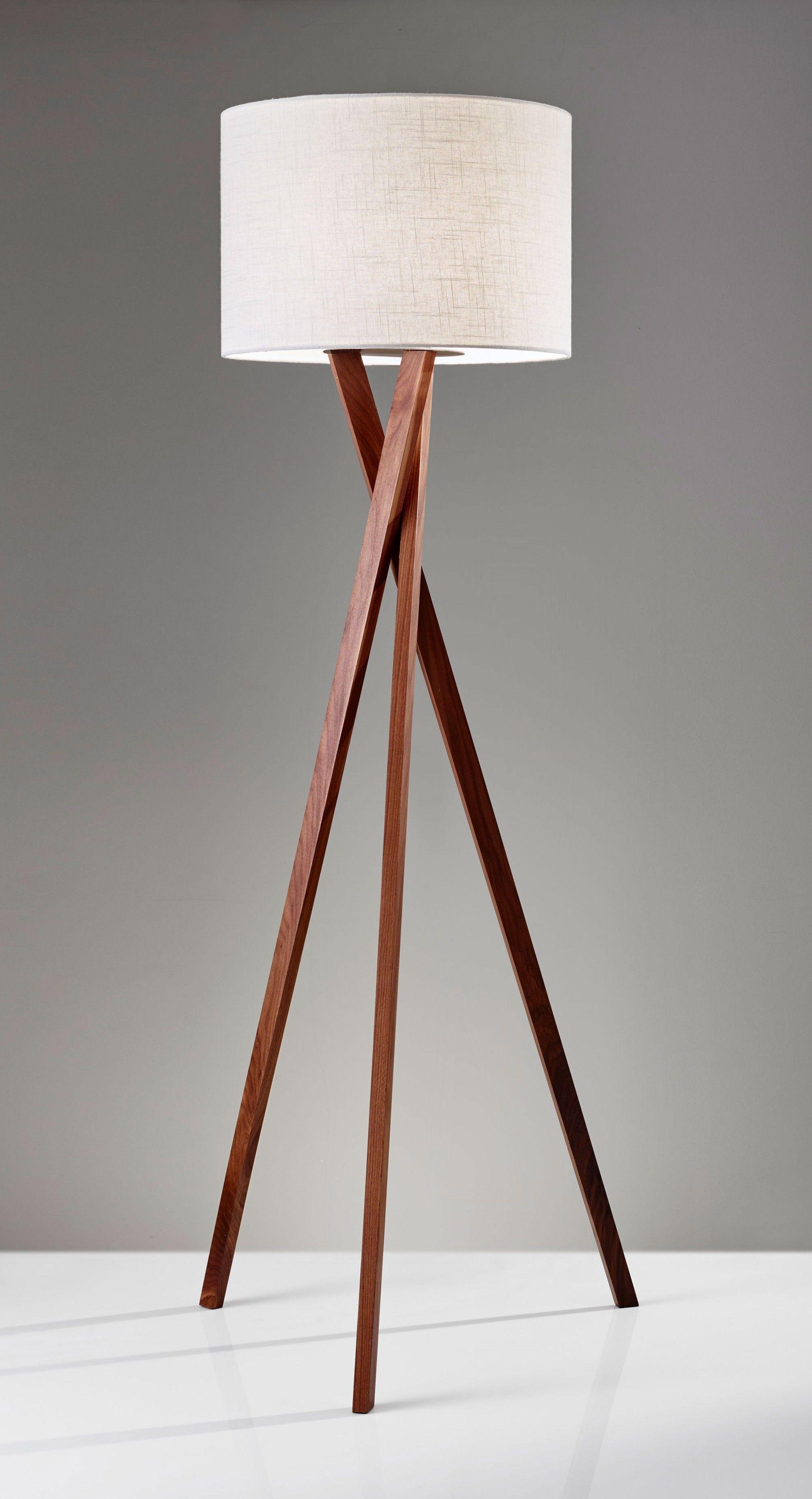 Brooklyn Floor Lamp Adesso Floor Lamp Lamp Contemporary Floor Lamps