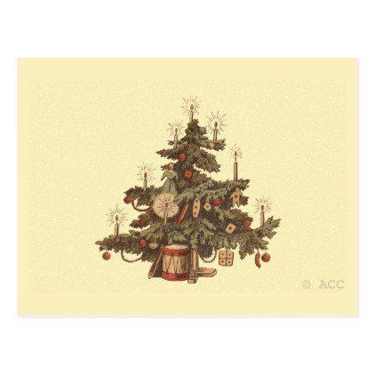 Vintage christmas tree postcard m4hsunfo
