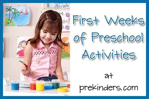 First weeks of preschool activities