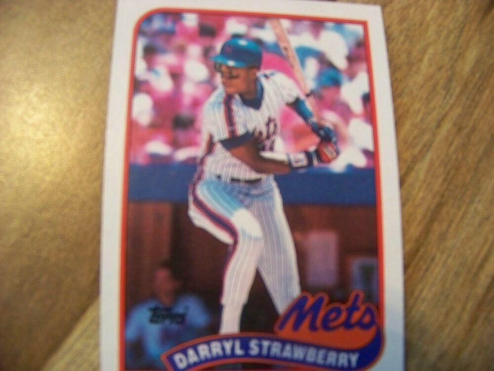 1989 Topps Darryl Strawberry Bb Card New York Mets 1988