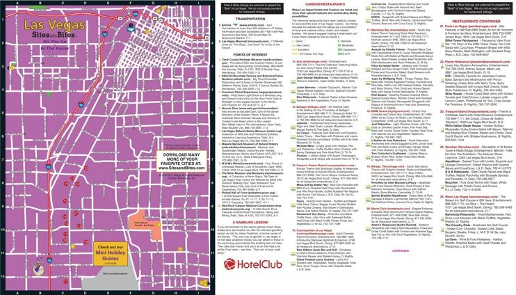 Las Vegas restaurants hotels and sightseeing map Maps Pinterest