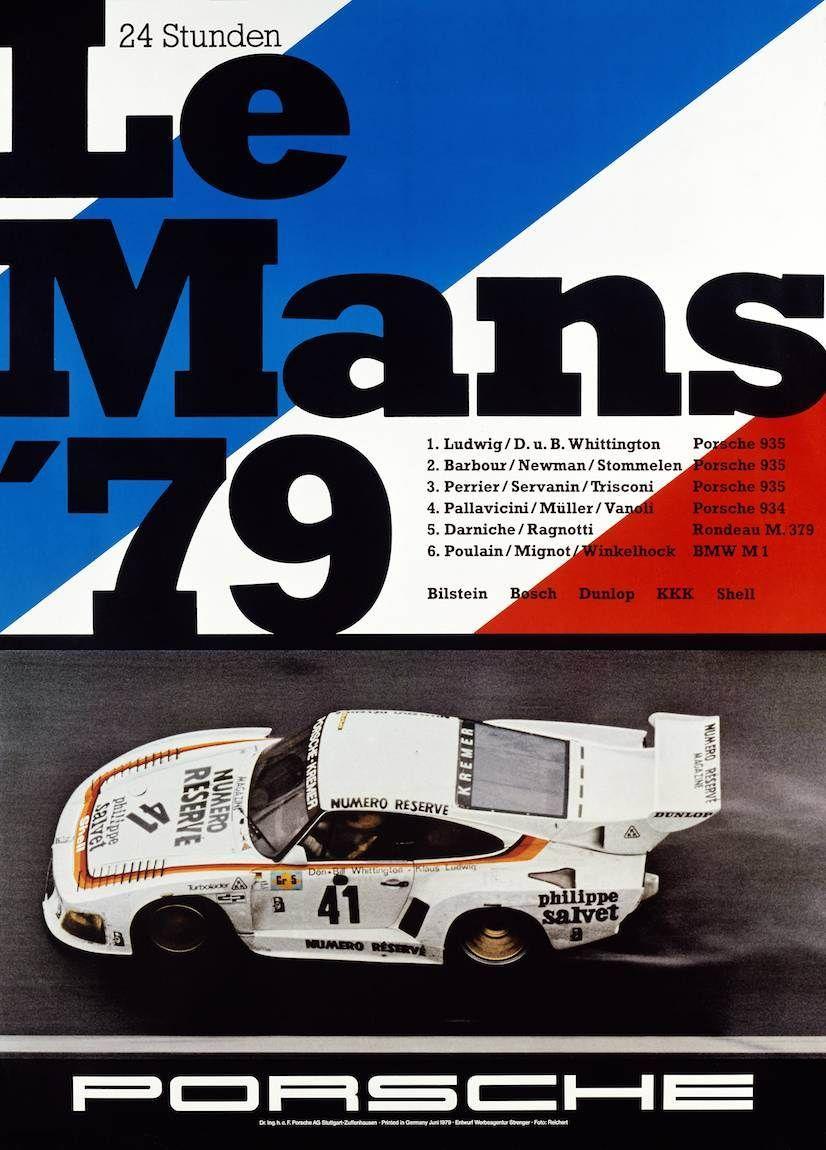 1979 vintage car poster LE MANS renowned race EUROPEAN 24X36 rare